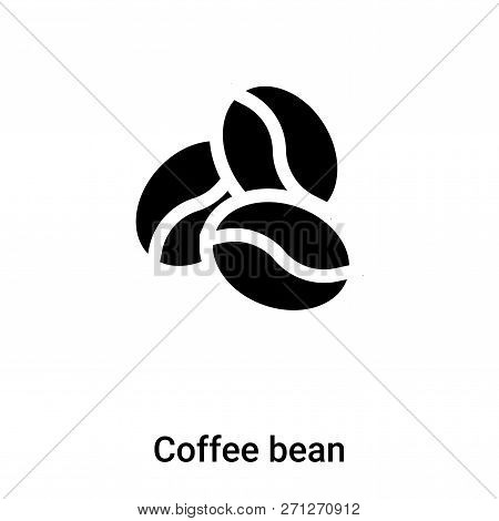 Coffee Bean Icon In Trendy Design Style. Coffee Bean Icon Isolated On White Background. Coffee Bean