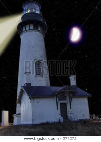 Night Moon Lighthouse