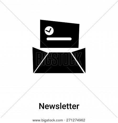 Newsletter Icon In Trendy Design Style. Newsletter Icon Isolated On White Background. Newsletter Vec