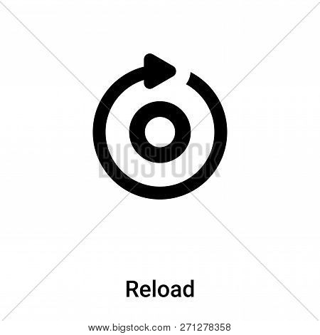 Reload icon in trendy design style. Reload icon isolated on white background. Reload vector icon simple and modern flat symbol for web site, mobile, logo, app, UI. Reload icon vector illustration, EPS10. poster