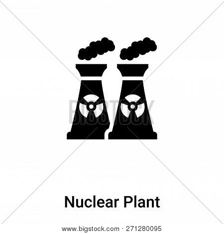 Nuclear Plant Icon In Trendy Design Style. Nuclear Plant Icon Isolated On White Background. Nuclear