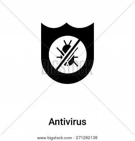 Antivirus Icon In Trendy Design Style. Antivirus Icon Isolated On White Background. Antivirus Vector