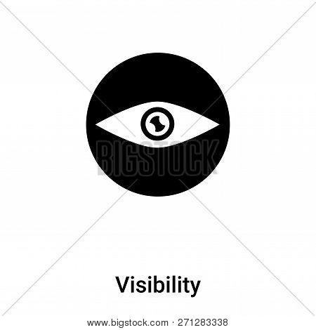 Visibility Icon In Trendy Design Style. Visibility Icon Isolated On White Background. Visibility Vec