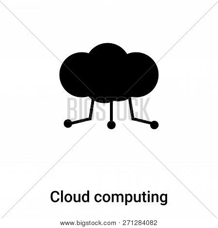 Cloud Computing Icon In Trendy Design Style. Cloud Computing Icon Isolated On White Background. Clou