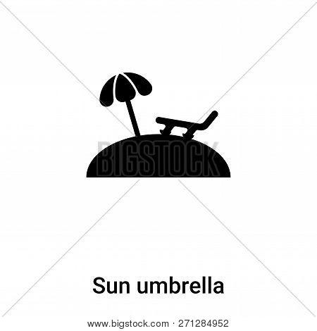 Sun Umbrella Icon In Trendy Design Style. Sun Umbrella Icon Isolated On White Background. Sun Umbrel
