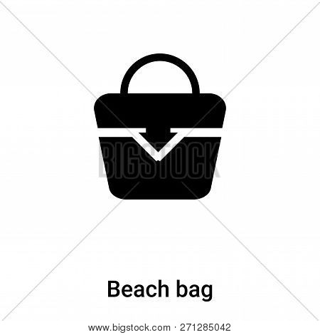 Beach Bag Icon In Trendy Design Style. Beach Bag Icon Isolated On White Background. Beach Bag Vector