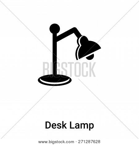 Desk Lamp Icon In Trendy Design Style. Desk Lamp Icon Isolated On White Background. Desk Lamp Vector