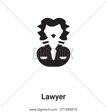 Lawyer Icon In Trendy Design Style. Lawyer Icon Isolated On White Background. Lawyer Vector Icon Sim