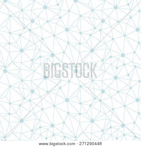Pastel Blue Network Web Texture Seamless Pattern. Great For Abstract Modern Wallpaper, Backgrounds,