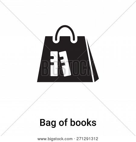 Bag Of Books Icon In Trendy Design Style. Bag Of Books Icon Isolated On White Background. Bag Of Boo