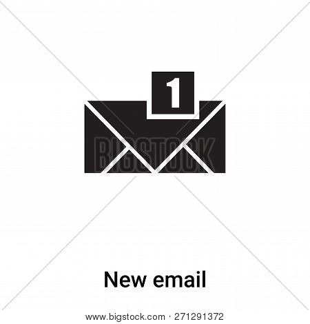 New Email Icon In Trendy Design Style. New Email Icon Isolated On White Background. New Email Vector