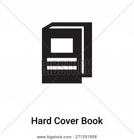 Hard Cover Book Icon In Trendy Design Style. Hard Cover Book Icon Isolated On White Background. Hard
