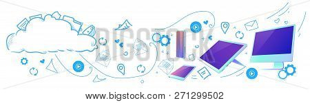 Cloud Computing Concept Design Diversity Devices Connected Synchronization Network Data Storage Hori
