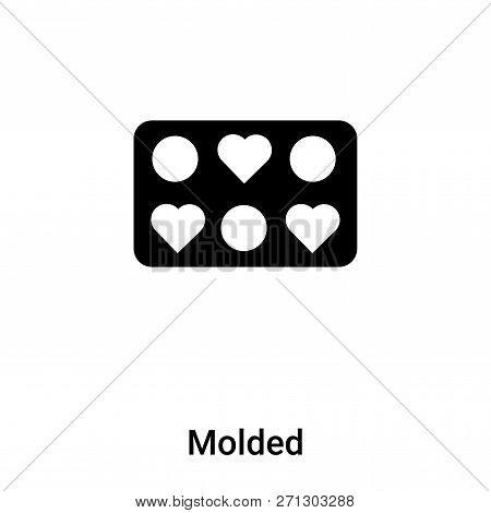 Molded Icon In Trendy Design Style. Molded Icon Isolated On White Background. Molded Vector Icon Sim