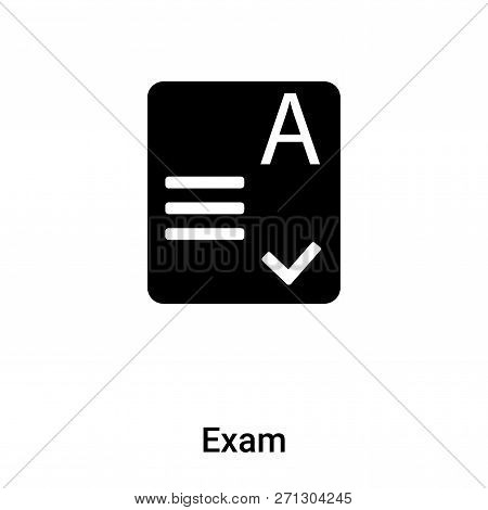 Exam Icon In Trendy Design Style. Exam Icon Isolated On White Background. Exam Vector Icon Simple An