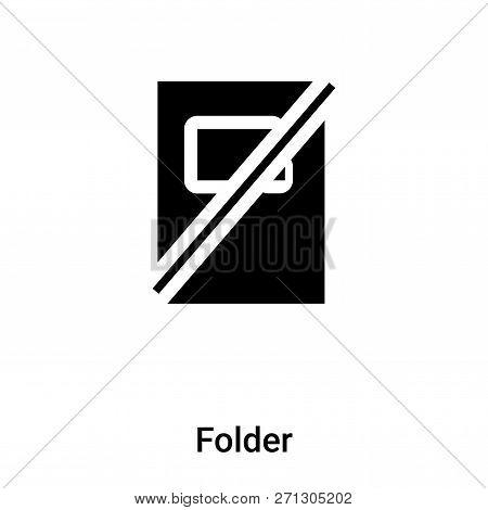 Folder Icon In Trendy Design Style. Folder Icon Isolated On White Background. Folder Vector Icon Sim
