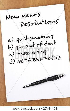 New year resolution with all acomplished
