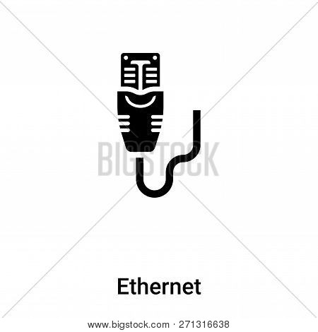 Ethernet Icon In Trendy Design Style. Ethernet Icon Isolated On White Background. Ethernet Vector Ic