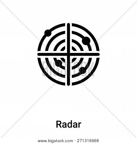 Radar Icon In Trendy Design Style. Radar Icon Isolated On White Background. Radar Vector Icon Simple
