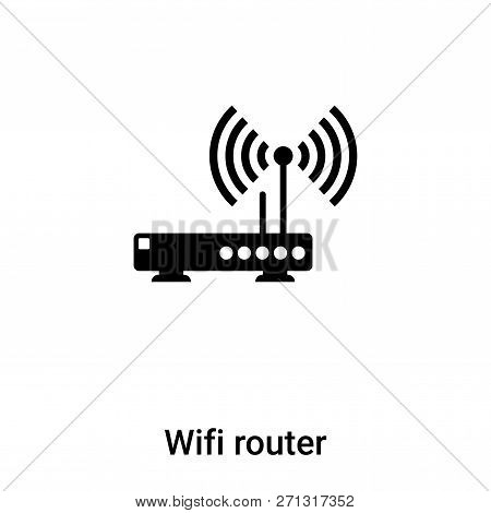 Wifi Router Icon In Trendy Design Style. Wifi Router Icon Isolated On White Background. Wifi Router