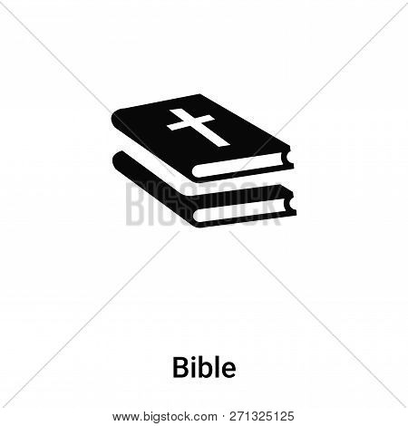 Bible Icon In Trendy Design Style. Bible Icon Isolated On White Background. Bible Vector Icon Simple