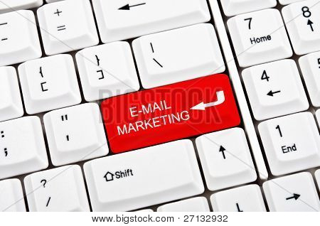 E-mail marketing key in place of enter key