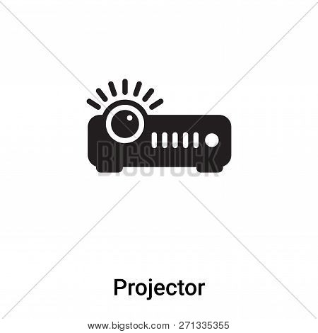 Projector Icon In Trendy Design Style. Projector Icon Isolated On White Background. Projector Vector