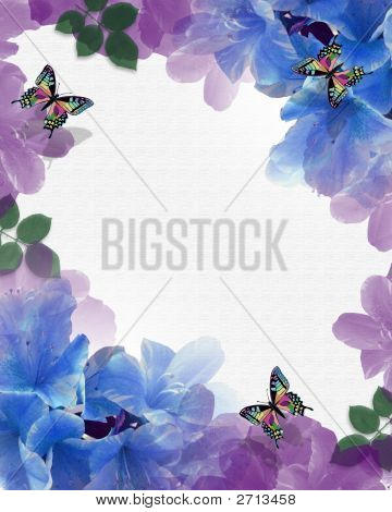 Watercolor Flowers And Butterflies