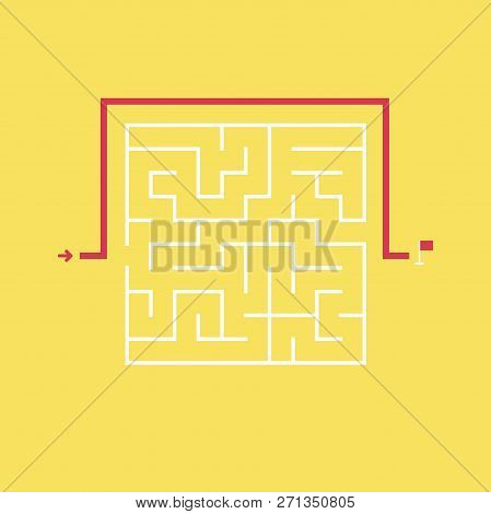 Square Maze And The Shortcut To The Exit Without Going Through The Entrance. Problem And Solution Co
