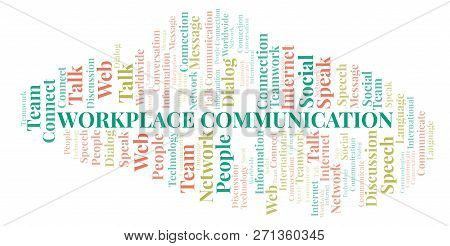 Workplace Communication Word Cloud. Wordcloud Made With Text Only.