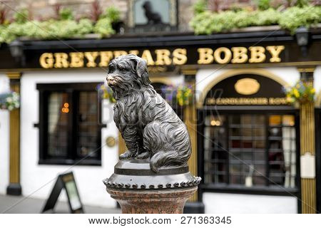Edinburgh, Scotland - May 19: Tombstone Of Dog Greyfriars Bobby On May 18, 2019 In Edinburgh