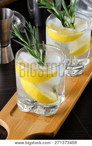 White Port And Tonic. This Is A Light And Refreshing Summer Cocktail With A White Port, Mixed With D