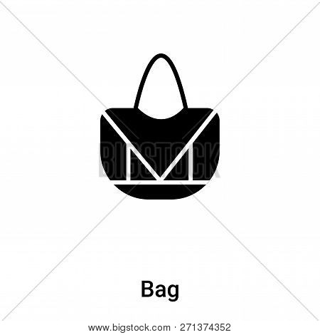 Bag Icon In Trendy Design Style. Bag Icon Isolated On White Background. Bag Vector Icon Simple And M