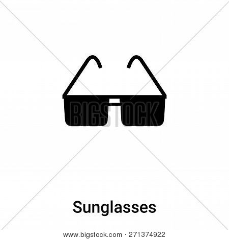 Sunglasses Icon In Trendy Design Style. Sunglasses Icon Isolated On White Background. Sunglasses Vec