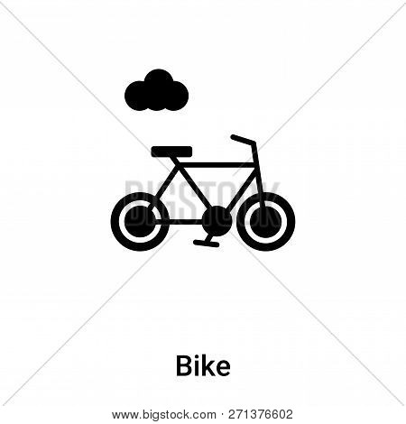 Bike Icon In Trendy Design Style. Bike Icon Isolated On White Background. Bike Vector Icon Simple An