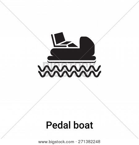 Pedal Boat Icon In Trendy Design Style. Pedal Boat Icon Isolated On White Background. Pedal Boat Vec