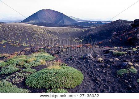 trekking on Etna volcano in Sicily