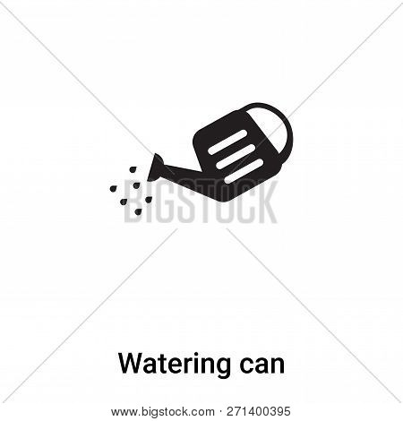 Watering Can Icon In Trendy Design Style. Watering Can Icon Isolated On White Background. Watering C
