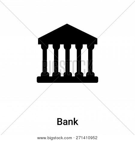 Bank Icon In Trendy Design Style. Bank Icon Isolated On White Background. Bank Vector Icon Simple An