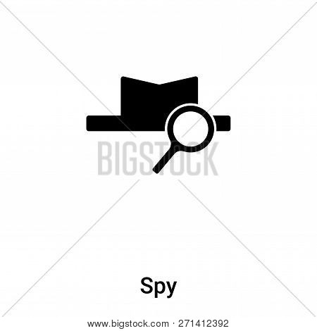 Spy Icon In Trendy Design Style. Spy Icon Isolated On White Background. Spy Vector Icon Simple And M