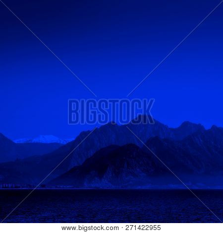 landscape image of high mountains over clear sky in Antalya, Turkey