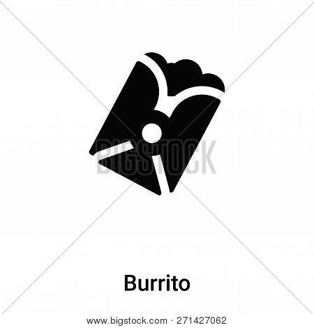 Burrito Icon In Trendy Design Style. Burrito Icon Isolated On White Background. Burrito Vector Icon