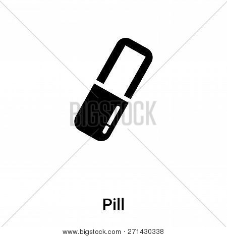 Pill Icon In Trendy Design Style. Pill Icon Isolated On White Background. Pill Vector Icon Simple An