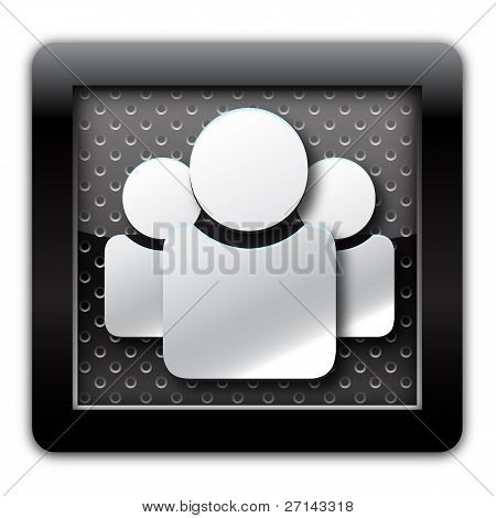 User group metal icon