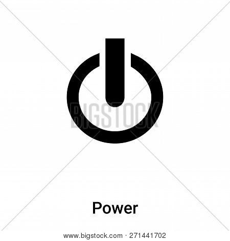 Power Icon In Trendy Design Style. Power Icon Isolated On White Background. Power Vector Icon Simple