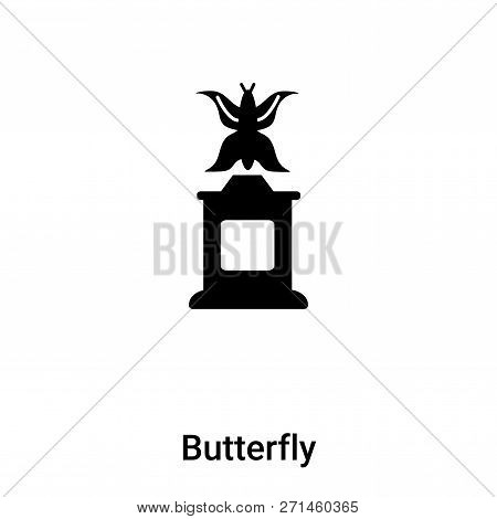 Butterfly Icon In Trendy Design Style. Butterfly Icon Isolated On White Background. Butterfly Vector