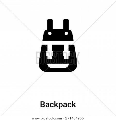 Backpack Icon In Trendy Design Style. Backpack Icon Isolated On White Background. Backpack Vector Ic