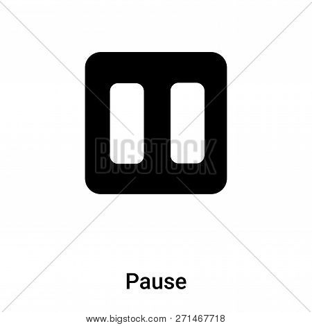 Pause Icon In Trendy Design Style. Pause Icon Isolated On White Background. Pause Vector Icon Simple
