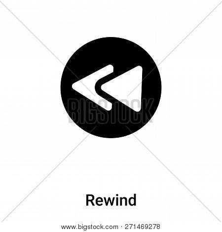 Rewind Icon In Trendy Design Style. Rewind Icon Isolated On White Background. Rewind Vector Icon Sim
