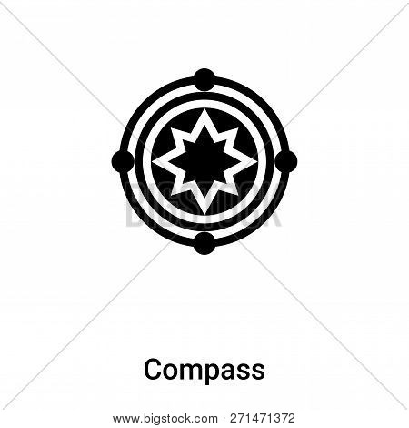 Compass Symbol Icon In Trendy Design Style. Compass Symbol Icon Isolated On White Background. Compas